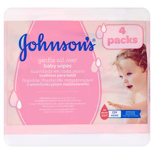 Johnson's Gentle All Over dětské vlhčené ubrousky 224 ks