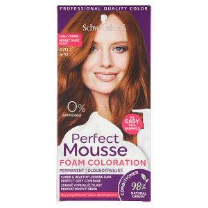 Schwarzkopf Perfect Mousse barva na vlasy Měděný Tmavě Plavý 670 (6-70)