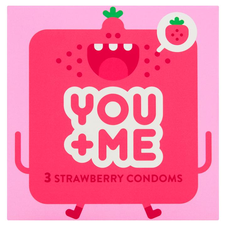You Me Strawberry kondomy, 3 ks