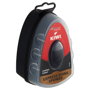 Kiwi Express Shine černý vosk a houbička 7ml