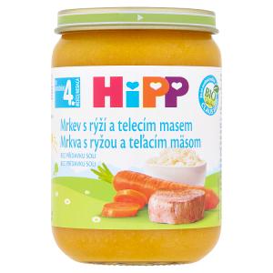 HiPP Bio mrkev s rýží a telecím masem 190g