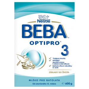 BEBA OPTIPRO® 3, instantní mléčná výživa pro malé děti, 600 g krabice (2x 300 g)