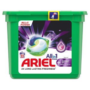 Ariel All-In-1 PODs + Lenor Unstoppables Kapsle Na Praní, 23 Praní