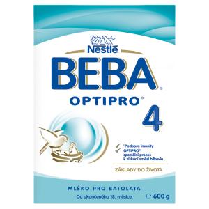 BEBA OPTIPRO® 4, instantní mléčná výživa pro malé děti, 600 g krabice (2x 300 g)