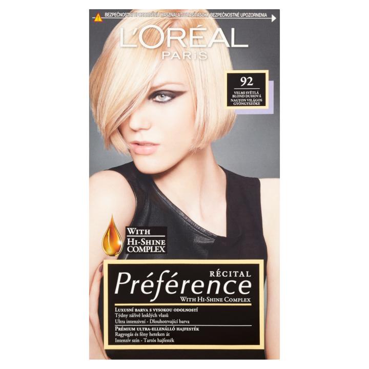 L'Oréal Paris Récital Préférence Velmi světlá blond duhová 92