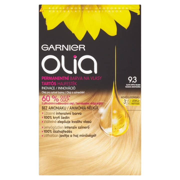 Garnier Olia Permanentní barva na vlasy zlatá světlá blond 9.3