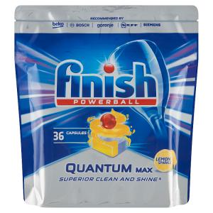 Finish Powerball Quantum Max Lemon Sparkle tablety do myčky nádobí 36 ks 558g