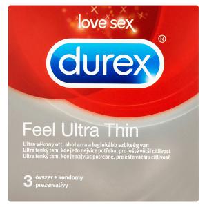 Durex Feel Ultra Thin kondomy 3 ks