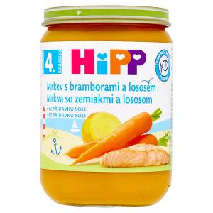 HiPP Mrkev s bramborami a lososem 190g