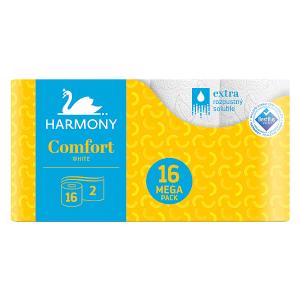 Harmony Comfort White toaletní papír 2 vrstvy 16 ks