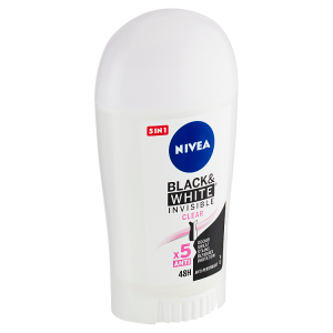 Nivea Black & White Invisible Clear Tuhý antiperspirant 40ml