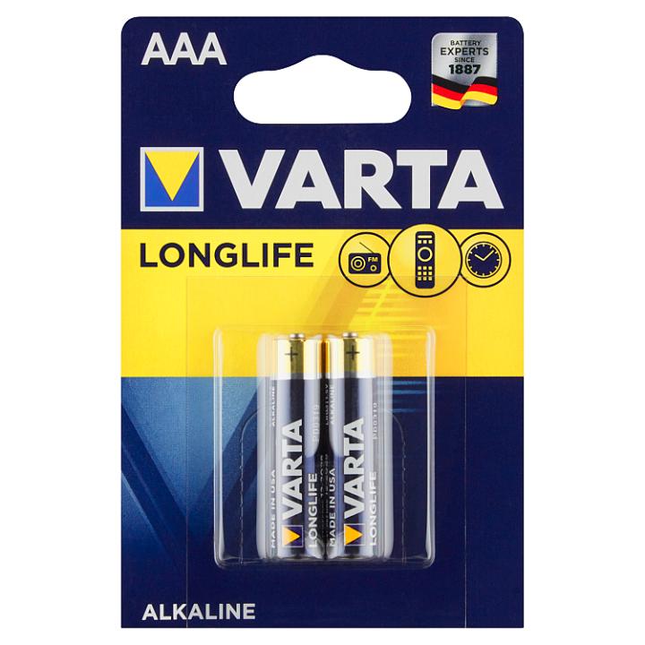 VARTA Longlife AAA alkalické baterie 2 ks