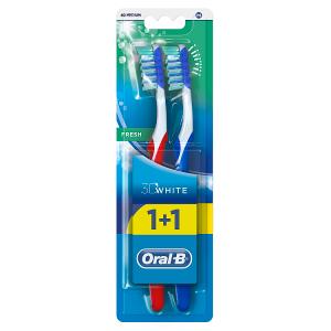 Oral-B Advantage 3DWhite Fresh Manuální Zubní Kartáček, Velikost Hlavy 40 x2