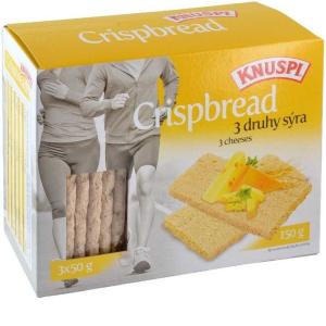 Knuspi křehký plátek 150g 3 druhy sýra