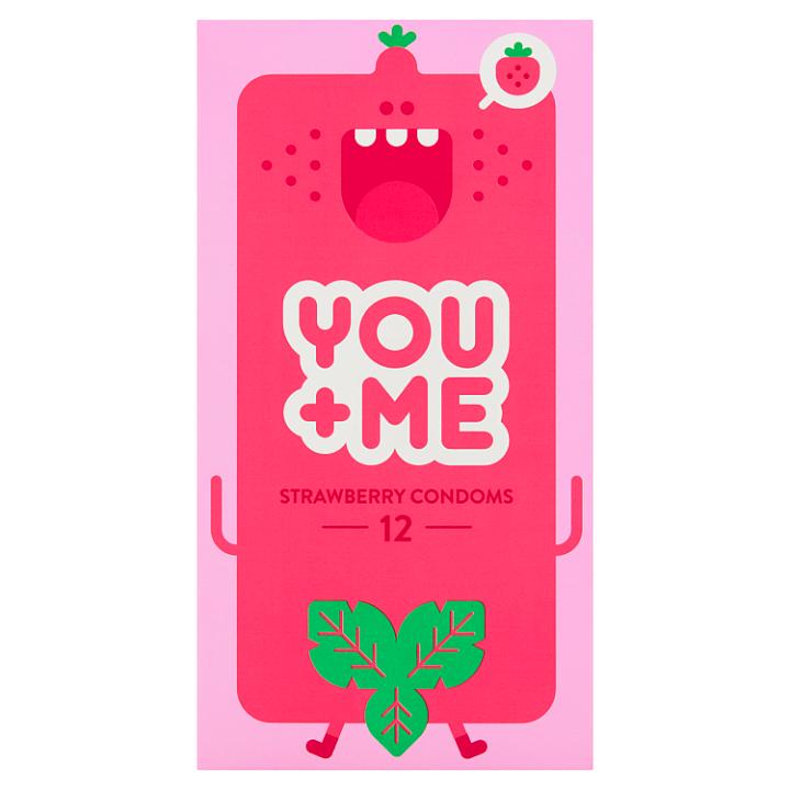 You Me Strawberry kondomy, 12 ks