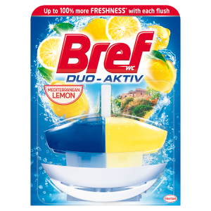 Bref Duo-Aktiv Mediterranean Lemon tekutý WC blok náhradní náplň 50ml