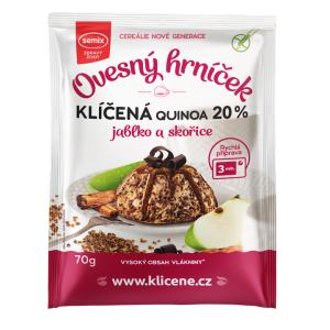Semix ovesný hrníček klíčená quinoa 20 % jablko a skořice 70 g