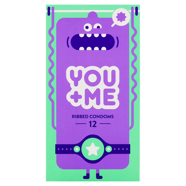 You Me Ribbed kondomy, 12 ks
