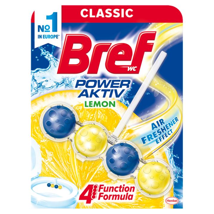 Bref Power Aktiv Lemon tuhý WC blok 50g