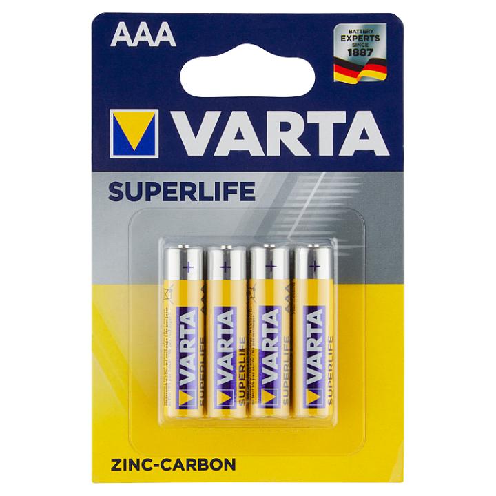VARTA Superlife AAA zinko-uhlíkové baterie 4 ks