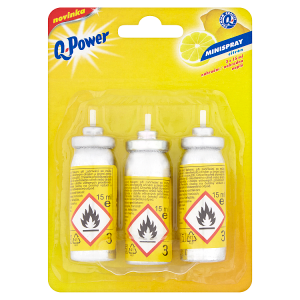 Q-Power Minispray citrón 3 x 15ml