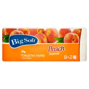 Big Soft Peach toaletní papír 2-vrstvy 10 ks