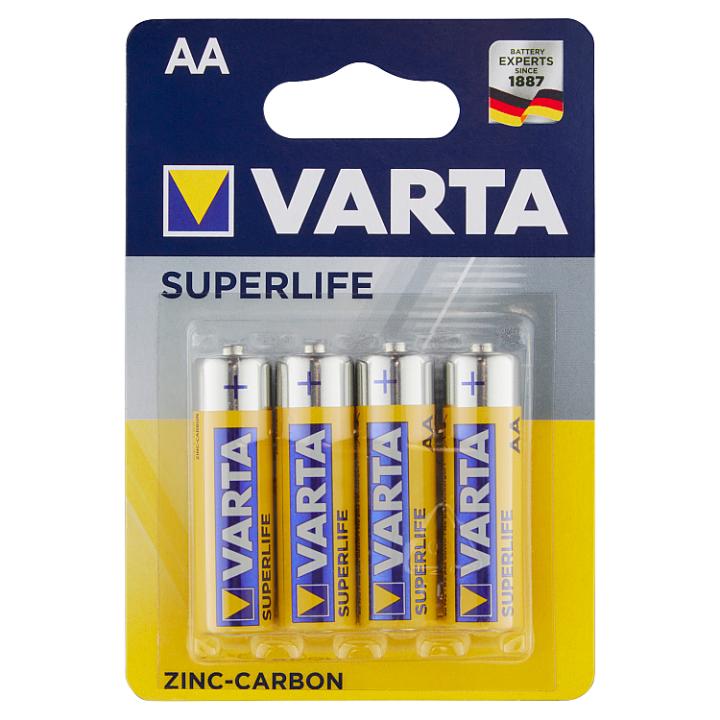 VARTA Superlife AA zinko-uhlíkové baterie 4 ks