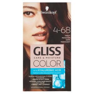 Schwarzkopf Gliss Color barva na vlasy Tmavý Mahagon 4-68