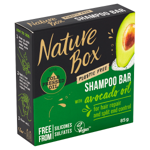Nature Box tuhý šampon Avocado Oil 85g
