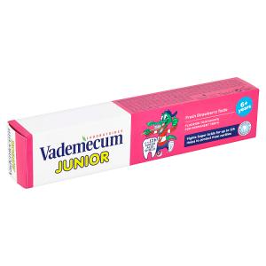 Vademecum Junior zubní pasta pro děti proti zubnímu kazu s jahodovou příchutí 75ml