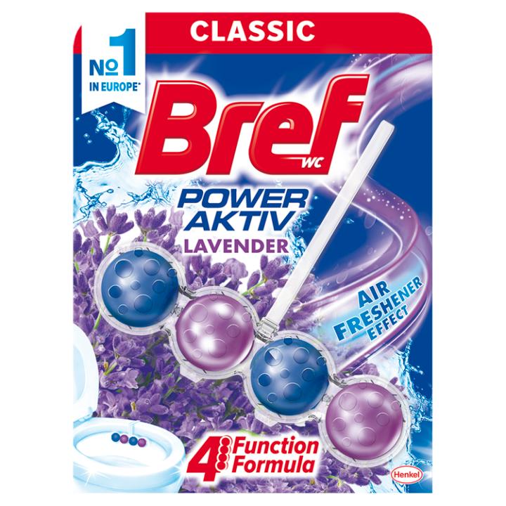 Bref Power Aktiv Lavender tuhý WC blok 50g
