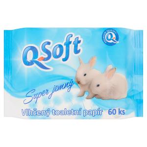 Q-Soft Vlhčený toaletní papír super jemný 60 ks