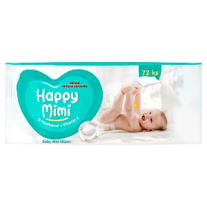 Happy Mimi Dětské vlhčené ubrousky 72 ks