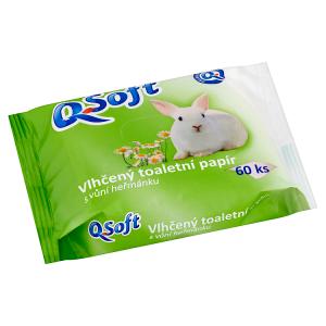 Q-Soft Vlhčený toaletní papír s vůní heřmánku 60 ks