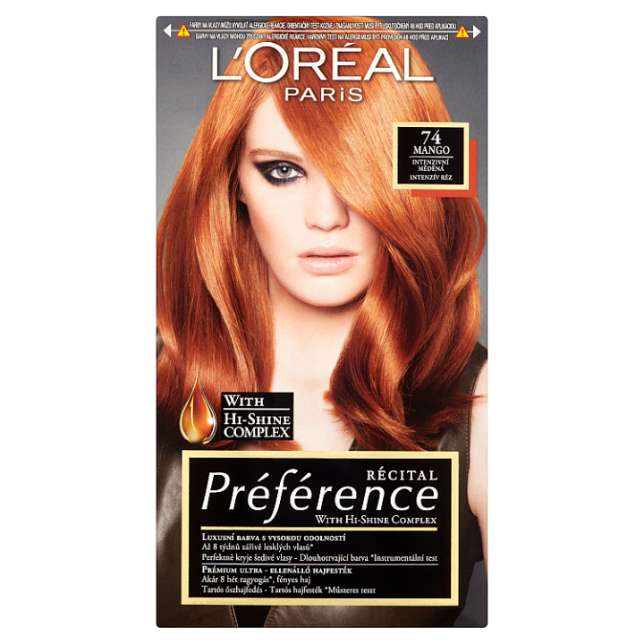 L'Oréal Paris Récital Préférence Mango intenzivní měděná 74