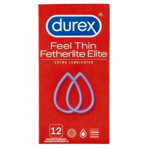 Durex Feel Thin Fetherlite Elite Extra Lubricated kondomy 12 ks