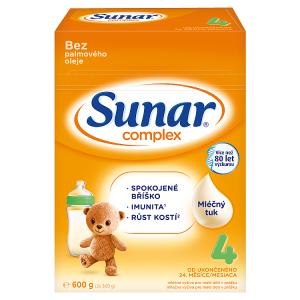 Sunar Complex 4 mléčná výživa pro malé děti v prášku od ukončeného 24. měsíce 2 x 300g (600g)