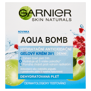 Garnier Skin Naturals Aqua Bomb hydratační antioxidační gelový krém 3v1 denní 50ml