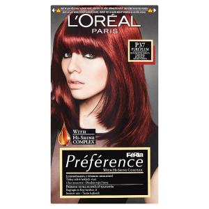 L'Oréal Paris Féria Préférence Pure Plum intenzivní tmavá červená P37